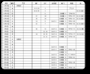 冬休み計画表(ちょこ)