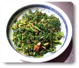 葉大根の炒め菜