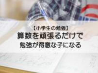 算数を頑張るだけで、勉強が得意な子になる