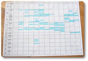 中1 一学期期末テスト計画表